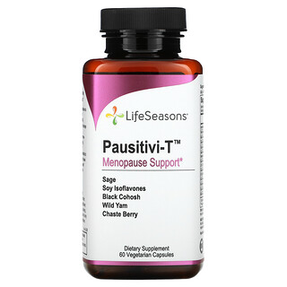 LifeSeasons, Pausitivi-T, Menopause Support, 60 Vegetarian Capsules