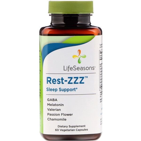 LifeSeasons, Rest-ZZZ Sleep Support, 60 Vegetarian Capsules