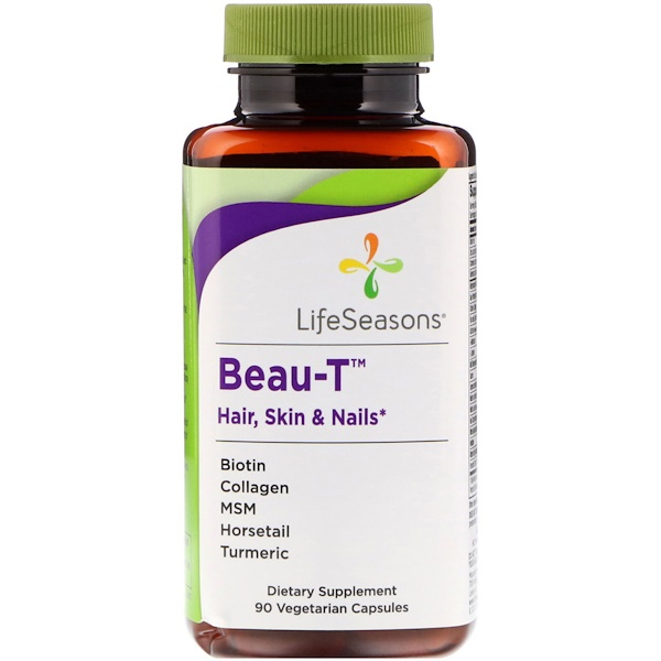 LifeSeasons, Beau-T, Hair, Skin & Nails, 90 Vegetarian Capsules (Discontinued Item)