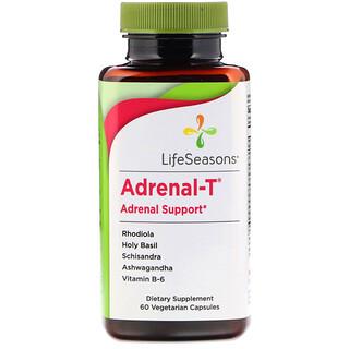 LifeSeasons, Adrenal-T, Apoyo adrenal, 60 cápsulas vegetarianas