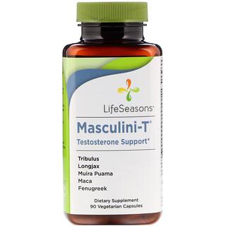 LifeSeasons, マスキュリーニ、テステストロンサポート、植物性カプセル90錠