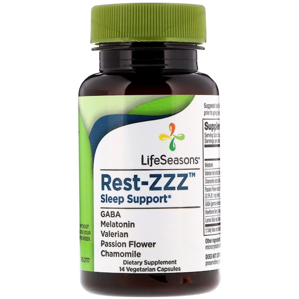 LifeSeasons, Rest-ZZZ Sleep Support, 14 Vegetarian Capsules (Discontinued Item)