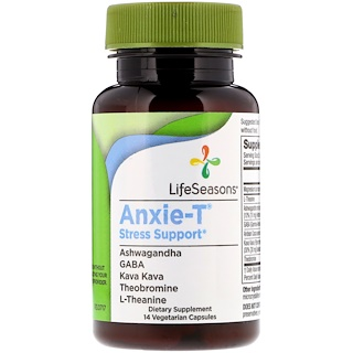 LifeSeasons, Anxie-T, Stress Support, 14 Vegetarian Capsules