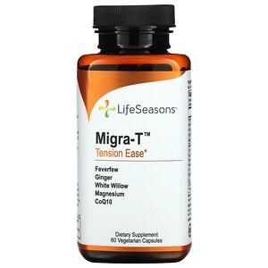 LifeSeasons, Migra-T, Tension Ease, 60 Vegetarian Capsules