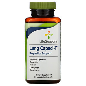 LifeSeasons, Lung Capaci-T, 90 Vegetarian Capsules