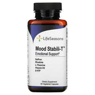 LifeSeasons, Mood Stabili-T, добавка для поддержки хорошего настроения, 60вегетарианских капсул
