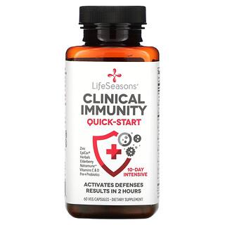 LifeSeasons, Clinical Immunity, Quick-Start, 60 Veg Capsules