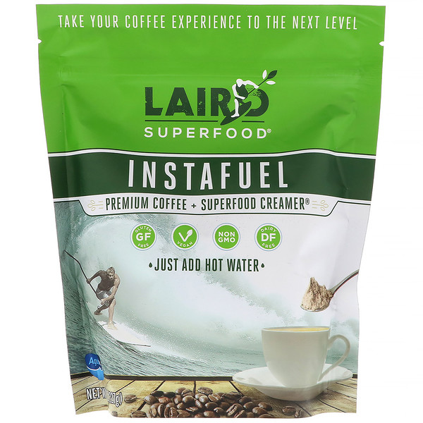 Laird Superfood, InstaFuel, Premium Instant Coffee + Laird Superfood Creamer, 8 oz (227 g) (Discontinued Item)