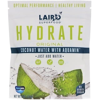 Laird Superfood, Hidrate, original, agua de coco con Aquamin, 8 oz (227 g)