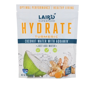 Laird Superfood, Hydrate, Tumeric, Coconut Water with Aquamin, 8 oz (227 g)