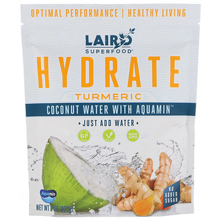 Laird Superfood, Hydrate, Turmeric, Coconut Water with Aquamin, 8 oz (227 g)