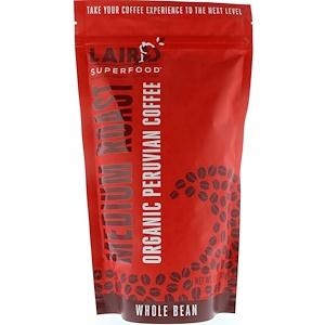 Laird Superfood, Organic Peruvian Coffee, Medium Roast, Whole Bean, 12 oz (340 g) отзывы