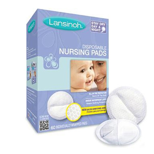 Disposable Nursing Pads, 60 Individually Wrapped Pads