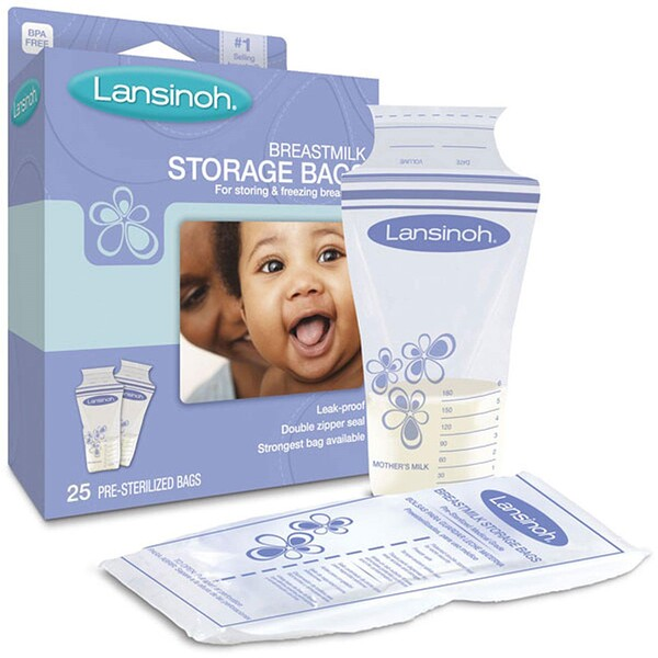 Breastmilk Storage Bags, 25 Pre-Sterilized Bags