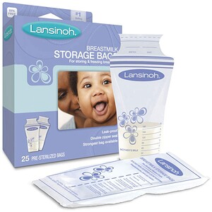 Лансинох, Breastmilk Storage Bags, 25 Pre-Sterilized Bags отзывы покупателей
