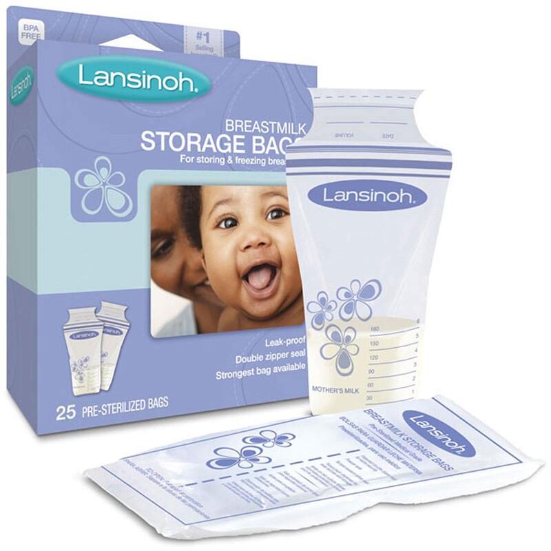 Breastmilk Storage Bags, 25 Pre-Sterilized Bags