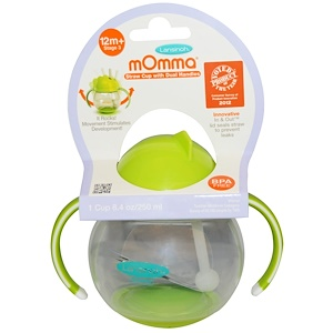 Лансинох, mOmma, Straw Cup with Dual Handles, Green, 1 Cup, 8.4 oz (250 ml) отзывы