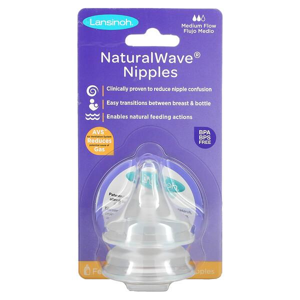 mOmma, NaturalWave Nipples, Medium Flow, 2 Medium Flow Nipples