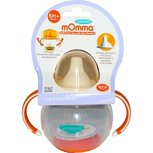 Лансинох, mOmma, Spill-Proof Cup with Dual Handles, 1 Cup, 8.4 oz (250 ml) отзывы