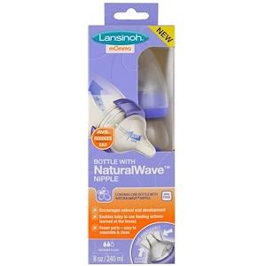 Лансинох, Natural Wave Nipple Bottle, Medium Flow, 8 oz (240 ml) отзывы покупателей