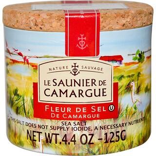 Le Saunier de Camargue, フルール・ド・セル, 海塩, 4.4オンス (125 g)