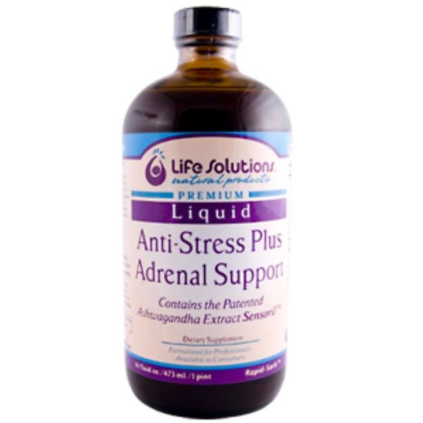 Life Solutions, Premium Liquid, Anti-Stress Plus Adrenal Support, 16 fl oz (473 ml) (Discontinued Item)