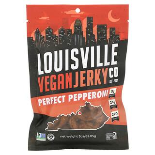 Louisville Vegan Jerky Co, Perfect Pepperoni, 3 oz (85.05 g)