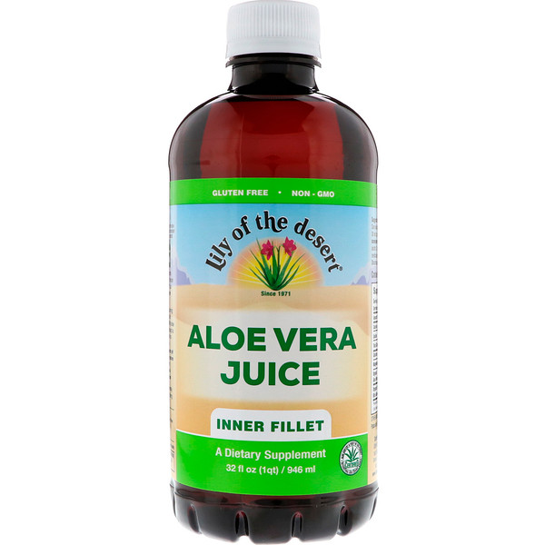 Lily of the Desert, Suco de Aloe Vera, Parte Interna, 946 ml (32 fl oz)