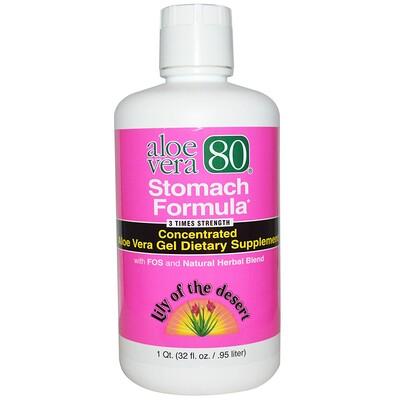 Купить Lily of the Desert Aloe Vera 80, Stomach Formula, 32 fl oz (.95 l)