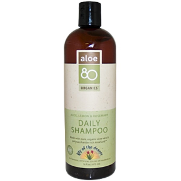 Lily of the Desert, Aloe 80 Organics, Daily Shampoo, Aloe, Lemon & Rosemary, 16 fl oz (473 ml) (Discontinued Item)