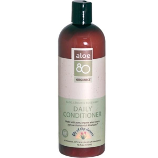 Lily of the Desert, Aloe 80 Organics, Daily Conditioner, Aloe, Lemon, Rosemary, 16 fl oz (473 ml) (Discontinued Item)