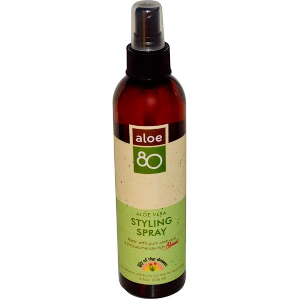 Lily of the Desert, Aloe 80, Aloe Vera Styling Spray, 8 fl oz (236 ml) (Discontinued Item)