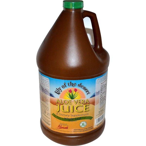Lily of the Desert, Aloe Vera Juice, Whole Leaf, 128 fl oz (3.78 l) (Discontinued Item)