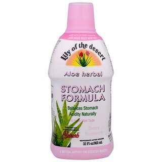 Lily of the Desert, Aloe Herbal Fórmula para el estómago, menta, 32 oz líquidas (946 ml)