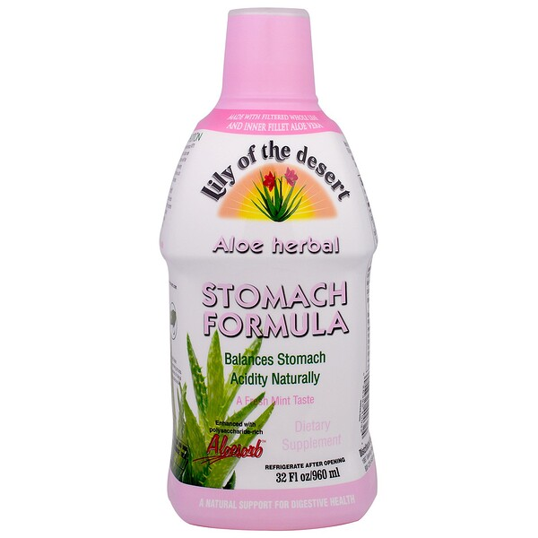 Aloe Herbal, Stomach Formula, Mint, 32 fl oz (960 ml)