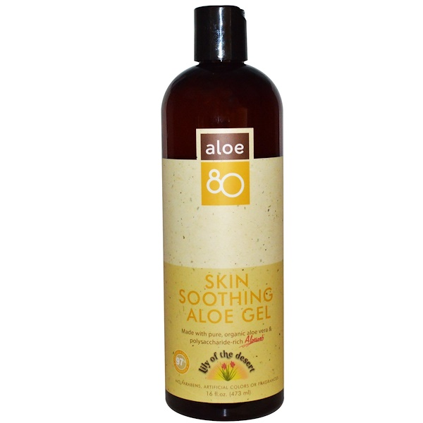 Lily of the Desert, Aloe 80, Skin Soothing Aloe Gel, 16 fl oz (473 ml) (Discontinued Item)