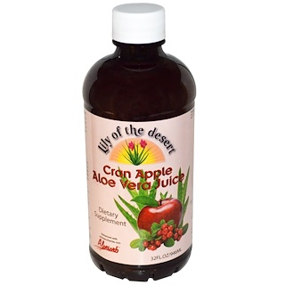 Lily of the Desert, Jugo de arándanos, manzana y aloe vera, 946 ml (32 fl oz)