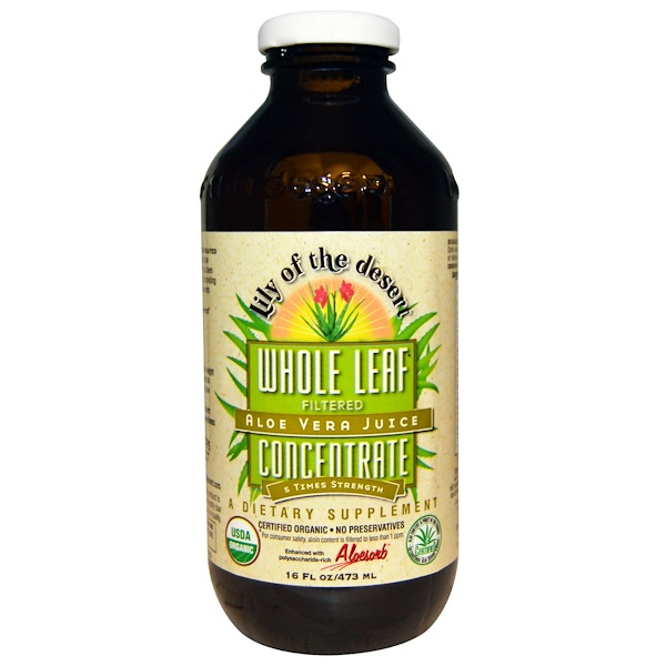 Lily of the Desert, Aloe Vera Juice, Whole Leaf Concentrate, 16 fl oz (473 ml) (Discontinued Item)