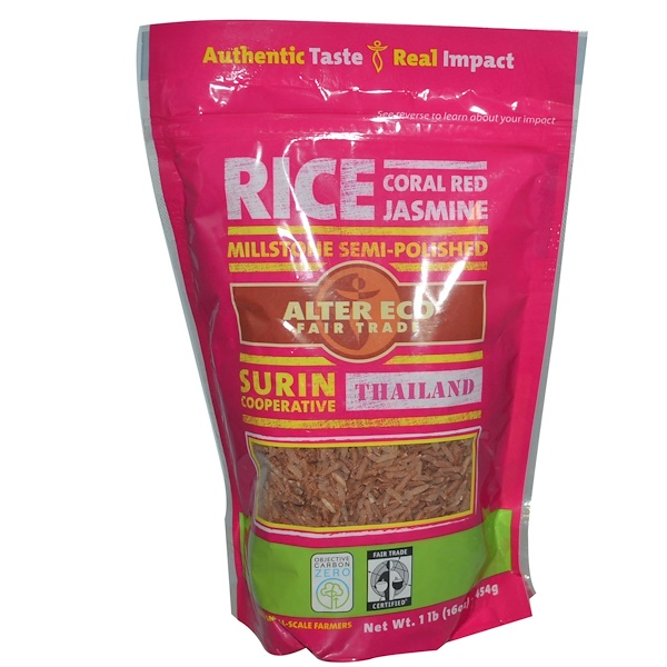 Alter Eco, Coral Red Jasmine Rice, 16 oz (454 g) (Discontinued Item)