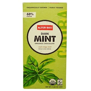 Alter Eco, Organic Chocolate, Dark Mint, 2.82 oz (80 g)