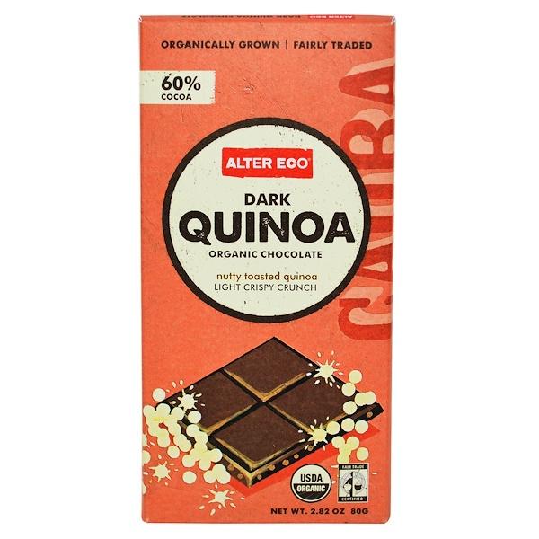 Alter Eco, Organic Chocolate, Dark Quinoa, 2.82 oz (80 g)