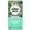 Alter Eco, Organic Chocolate Bar, Coconut Toffee, 47% Cacao, 2.82 oz (80 g)