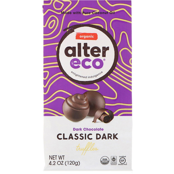 Alter Eco, Organic Classic Dark Truffles, Dark Chocolate, 4.2 oz (120 g)