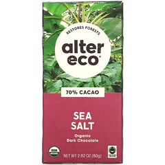 Alter Eco, 有機黑巧克力棒,海鹽,70% 可可,2.82 盎司(80 克)