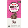 Alter Eco, Chocolate orgánico, amargo intenso con sal marina, 2.82 oz (80 g)