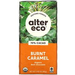 Alter Eco, 有機黑巧克力棒,焦糖,70% 可可,2.82 盎司(80 克)