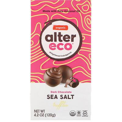 Купить Alter Eco Органические трюфели с морской солью, темный шоколад, 4, 2 унции (120 г)