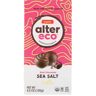 Alter Eco, Organic Sea Salt Truffles, Dark Chocolate, 4.2 oz (120 g)