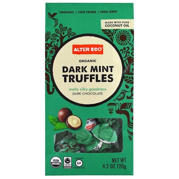 Alter Eco, Organic Chocolate, Dark Mint Truffles, Dark Chocolate, 4.2 oz (120 g)