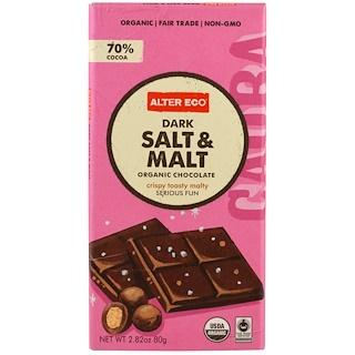 Alter Eco, Organic Chocolate, Dark Salt & Malt, 2.82 oz (80 g)